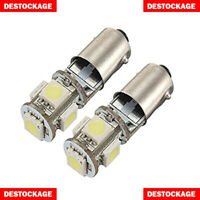 2 AMPOULES LED T11 BA9S PUISSANT 5 SMD BLANC PUR AMPOULE EFFET XENON FEU PHARE