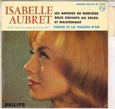 """ISABELLE AUBRET """"TINTIN ET LA TOISON D' OR"""" 60'S EP FERRAT, BECAUD !"""