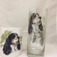 SPRINGER SPANIEL   MUG AND MATCHING TALL HIGHBALL GLASS