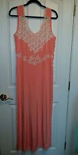 BN VICTORIA SECRET Jumpsuit! Soft Peach Adorned with Delicate Lace! M/L