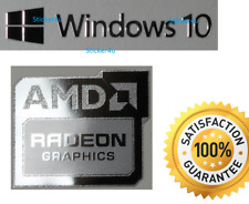 Scheda grafica AMD Radeon + Gratis Adesivo PC Windows 10 7 XP 8 vista UK base computer