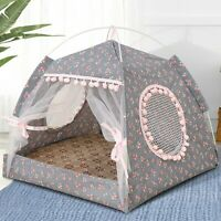 Summer Pet Bed with Cushion Sleeping House Detachable Cleaning Pet House Dog Bed