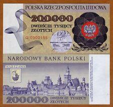 Poland, 200000 (200,000) Zlotych, 1989, P-155, UNC