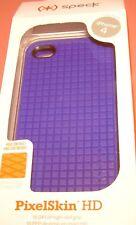Speck PixelSkin HD high grade gel case for Apple iPhone 4/4s, Purple, NEW
