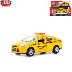 Tehnopark Diecast Vehicles Taxi Cab Ford Focus Russian Toy Cars 12 cm