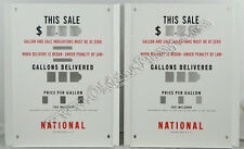 National A-38 Gas Pump Face Plates PF-115 Free S&H Lower 48 States