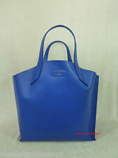 NWT FURLA Ocean Blue Saffiano Leather Large Jucca Stitch Tote Bag