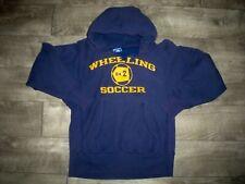 Vintage Wheeling Champion Pullover Blue Hooded Hoodie Sweatshirt Mens Size Small
