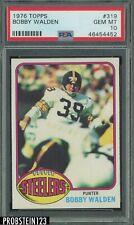 1976 Topps Football #319 Bobby Walden Steelers PSA 10 GEM MINT