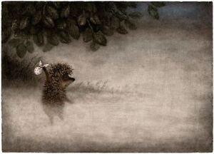 Hedgehog in the Fog Y.Norstein's/Norshteyn animation Signed Giclée (Hedgehog)