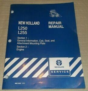 NEW HOLLAND L250 L255 SKID STEER LOADER ENGINE SERVICE REPAIR SHOP MANUAL