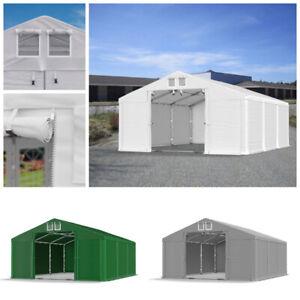GARAGENZELT 4x4 - 6x12m Lagerzelt PVC 560g/m2 Industriezelt Werkstatt Lagerhalle