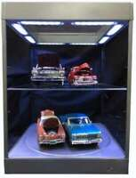 TRIPLE 9 69929S or 69929K 69929W SHOWCASE + 1 shelf & 1 turntable + LED lights