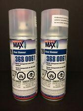 2 CAN  USC SPRAYMAX 2K GLAMOUR HIGH GLOSS CLEAR COAT SPRAY MAX 3680061 AEROSOL