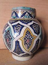 VASE POT ANCIEN céramique de Fez Maroc