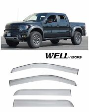 For 09-14 Ford F-150 Super Crew Cab WellVisors Side Window Visors Premium Series