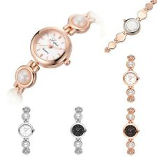 Women's Fashion Pearl Quartz Wrist Watch Bracelet Bangle Lady Casual Wristwatch