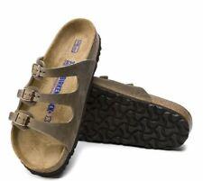 Birkenstock Women's Florida Soft Footbed Sandal BLACK & TOBACCO 1011445/1011432