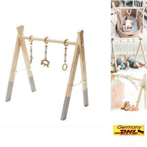 Baby Spieltrapez Krabbeldecke Spielzeug Motorik Spielbogen Holz Activity Center