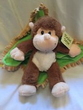 Fiesta Fleece Blanket Baby Monkey tan and brown new with tags