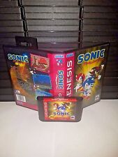 Sonic the Hedgehog Megamix Game for Sega Genesis! Cart & Box!