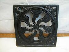 Round 2-pc Cast Iron Floor Ornate Register Heat Grate Vent Grille Architectural