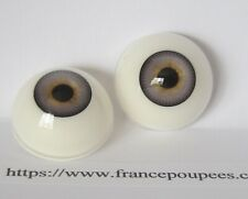 Reborn yeux bleu gris 20mm R65 poupée MODERNE/Vintage/Reborn doll eyes polymer