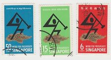 SINGAPORE - 1968 National Day stamp set, used (L21)