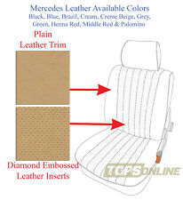 Mercedes R107 380SL 450SL 500SL Orig Leather Replacement Front Seat Covers 80-85