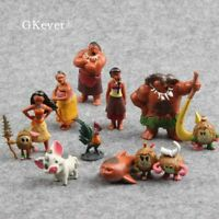 12pcs/set Moana PVC Model Toys Pua Action Figure Doll Cake Topper Birthday Gift