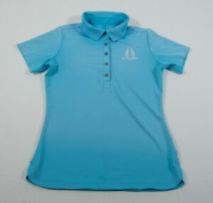 Nike Golf Tour Performance Women's Blue Eagles Dream Polo Collar Shirt Sz XS