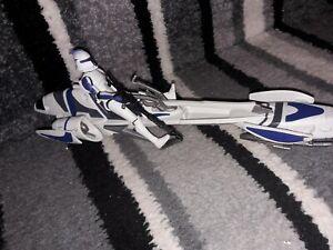 Star Wars -The Clone Wars Action Figure Vehicle Set CLONE TROOPER & BARC Speeder