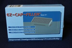 50 holes EZ-CAP-FILLER cap filler machine size 4,3,2,1,0,00,000 respectively