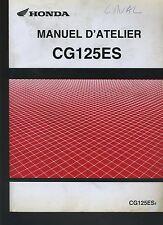 (C9B) REVUE TECHNIQUE MANUEL ATELIER MOTO HONDA CG125ES
