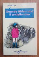 1995 Quando Hitler rubò il coniglio rosa Judith Kerr Bompiani ragazzi illustrato