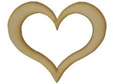 MDF Heart Wooden Shapes 7.5cm 75mm High 3mm Thick Custom Cut X 10 Pieces 073