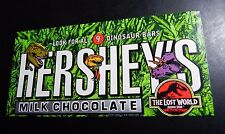 Hershey's Rare The Lost World Jurassic Park Candy Wrapper No Chocolate Dinosaur