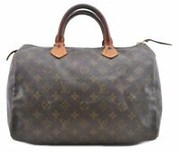 Authentic Louis Vuitton Monogram Speedy 30 Hand Bag Old Model LV C0515