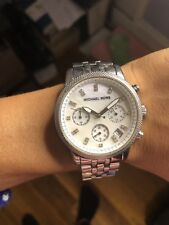 Michael Kors Women's MK5020 'Ritz' Chronograph Crystal Stainless Steel Watch