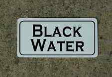"BLACK WATER Metal Sign 6""x12"" Food Beverage Retro Vintage RV Trailer Concession"