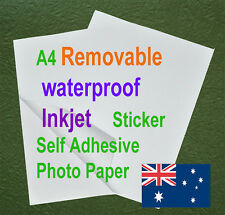 10sheets A4 Waterproof Removable Sticker Adhesive Matte Inkjet Polymeric Paper