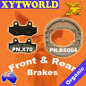FRONT REAR Brake Pads Shoes for Honda CR 125 RG 1986