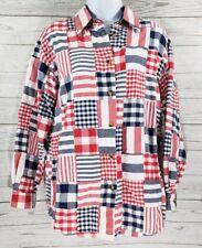 25b43834ed Orvis Blouse Sz Small Women Red White Blue Plaid Long Sleeve Button Down