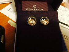 NWT PHILIPPE CHARRIOL Rose Gold Plated Stainless Steel And Cable  Earrings