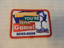 2003-2004 Trails End Popcorn Sale BSA Pocket Patch Scouting, You're In The Game