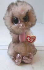 """Ty Beanie Boos HENNA Brown & Cream Colored Ostrich 6""""  hh"""