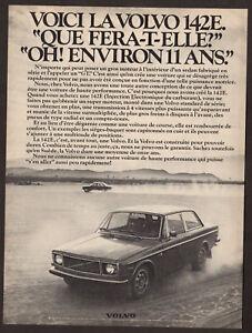 1971 VOLVO 142 E Vintage Original Print AD Black car photo French Canada desert