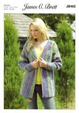 James C Brett JB462 Knitting Pattern Womens Jacket in Marble Chunky