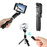 Wireless Bluetooth Selfie Stick Shutter Extendable Remote Tripod Phone Holder