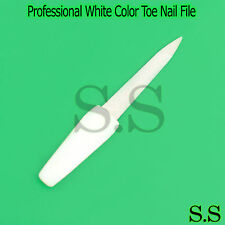 Professional White Color Metal Finger Toe Nail File Manicure Padicure Dual Sided
